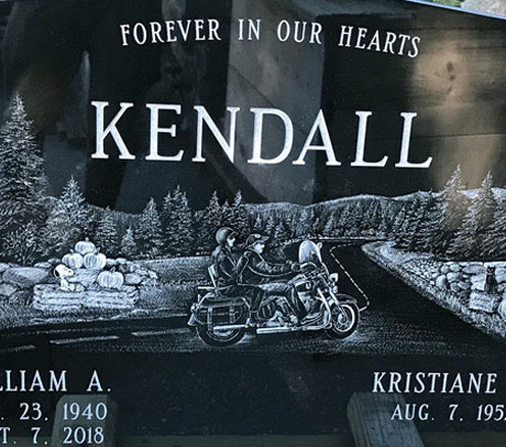 Polished Granite Headstone