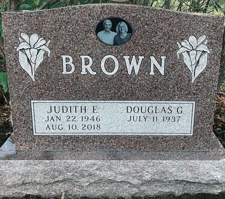 Brown Granite Headstone